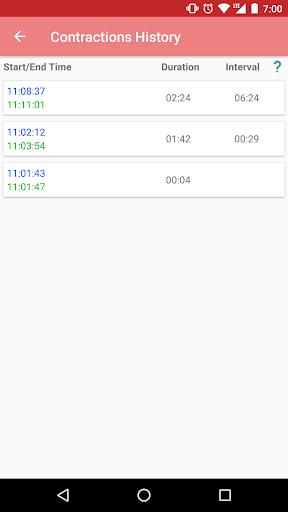 Contraction timer 1.2.1 Screenshots 17