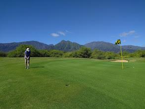 Photo: Linda putting at The Dunes at Maui Lani Golf Course near Kahului, Maui, HI