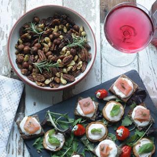 Smoked Salmon And Horseradish Mini Squares