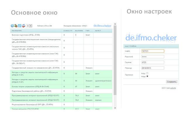 баллы ИТМО [de.ifmo.checker]