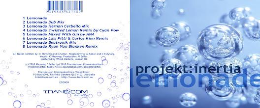 Photo: Master Artwork: ECOM59, Projekt Inertia - Lemonade, released September 2010. Design by Dennis Remmer.