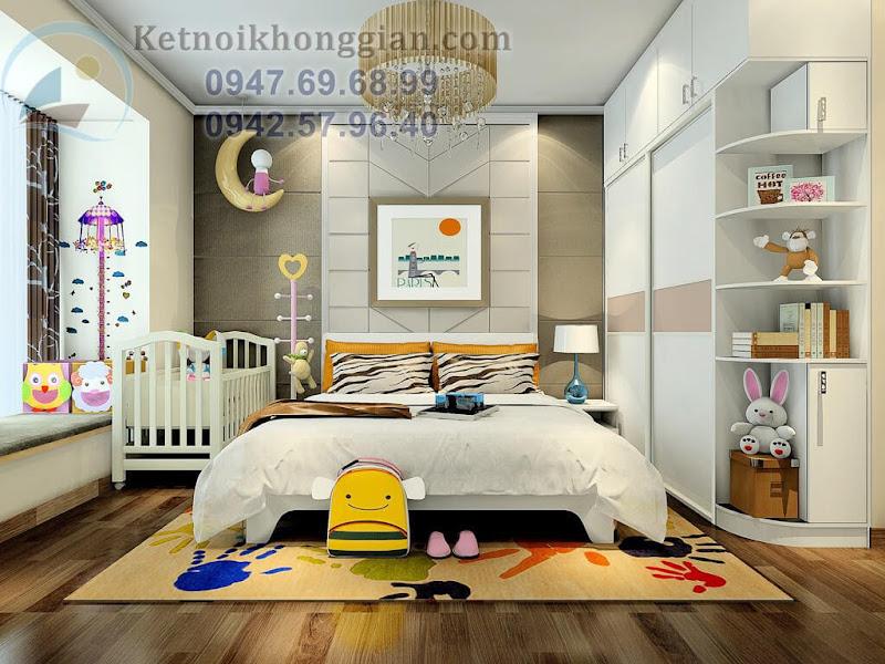thiết kế phòng ngủ tinh nghịch
