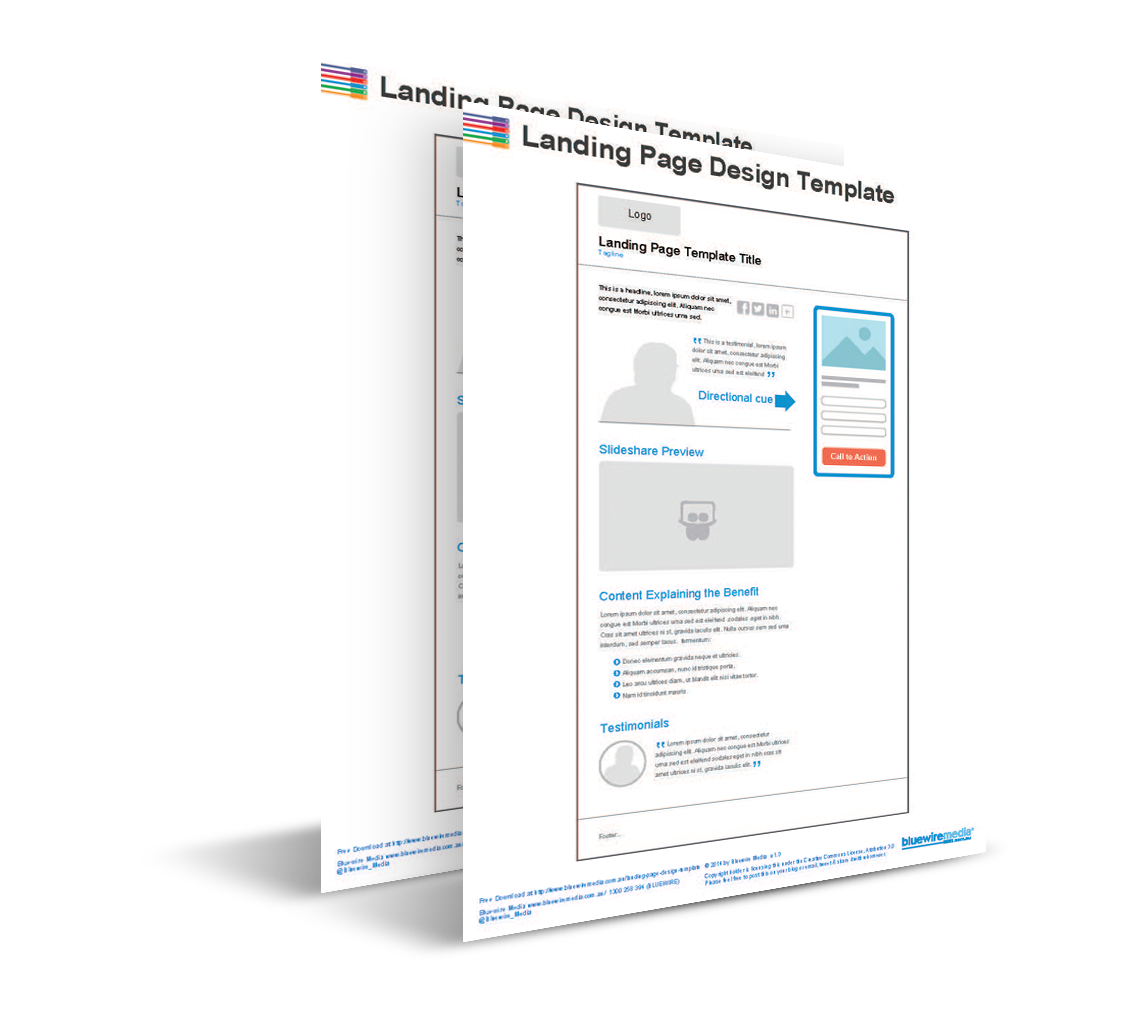 Landing Page Design Template - High converting landing page templates