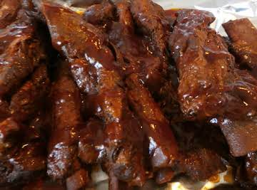 BBQ Ribs Pressure Cooked