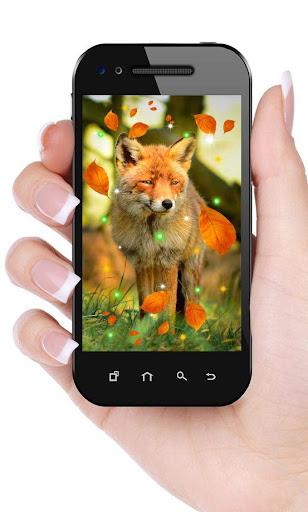 Fox Autumn live wallpaper
