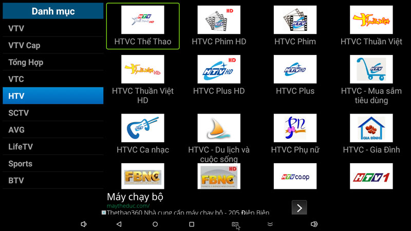 flytv ung dung xem truyen hinh tivi online mien phi cho android tv box flytvbox - nhom kenh htv