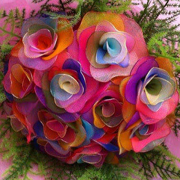 手作彩虹玫瑰花束