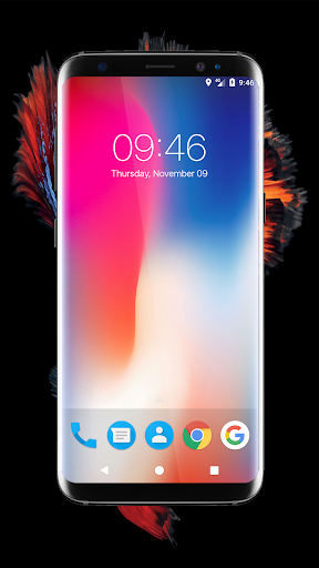 iPhone X Digital Clock Widget Transparent 1 0 117 APK by