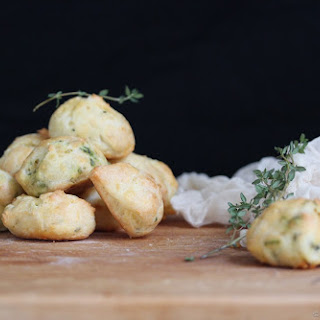 Cheddar and Thyme Gougères (Cheese Puffs)