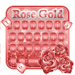 Rose Gold Silk Theme Keyboard