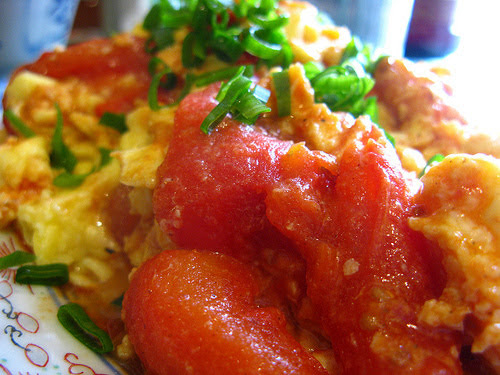 chinese, comfort food, egg, organic, recipe, stir fry, tomato, vegetable, scrambled eggs