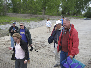 Photo: On the Missouri River boat ramp in Kansas City's Riverfront Park loading for a day on the river.