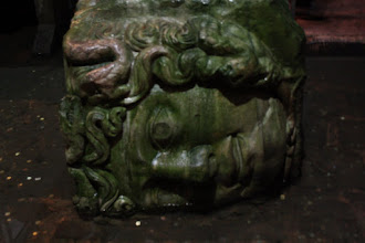 Photo: Day 114 - The Other Medusa Head in the Basilica Cistern (On Its Side)