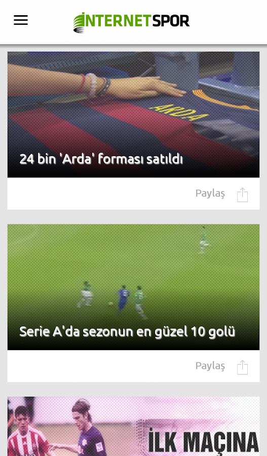 İnternet Spor- screenshot