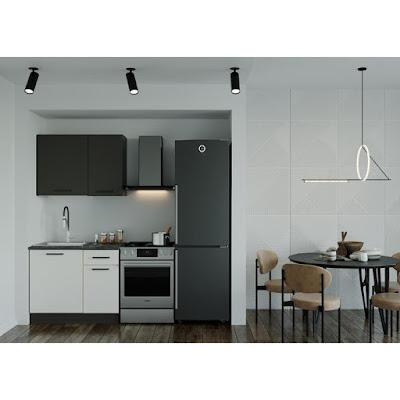 Кухонный гарнитур Лофт 1032х600 Антрацит/ Детройт/ Антрацит,Жемчуг