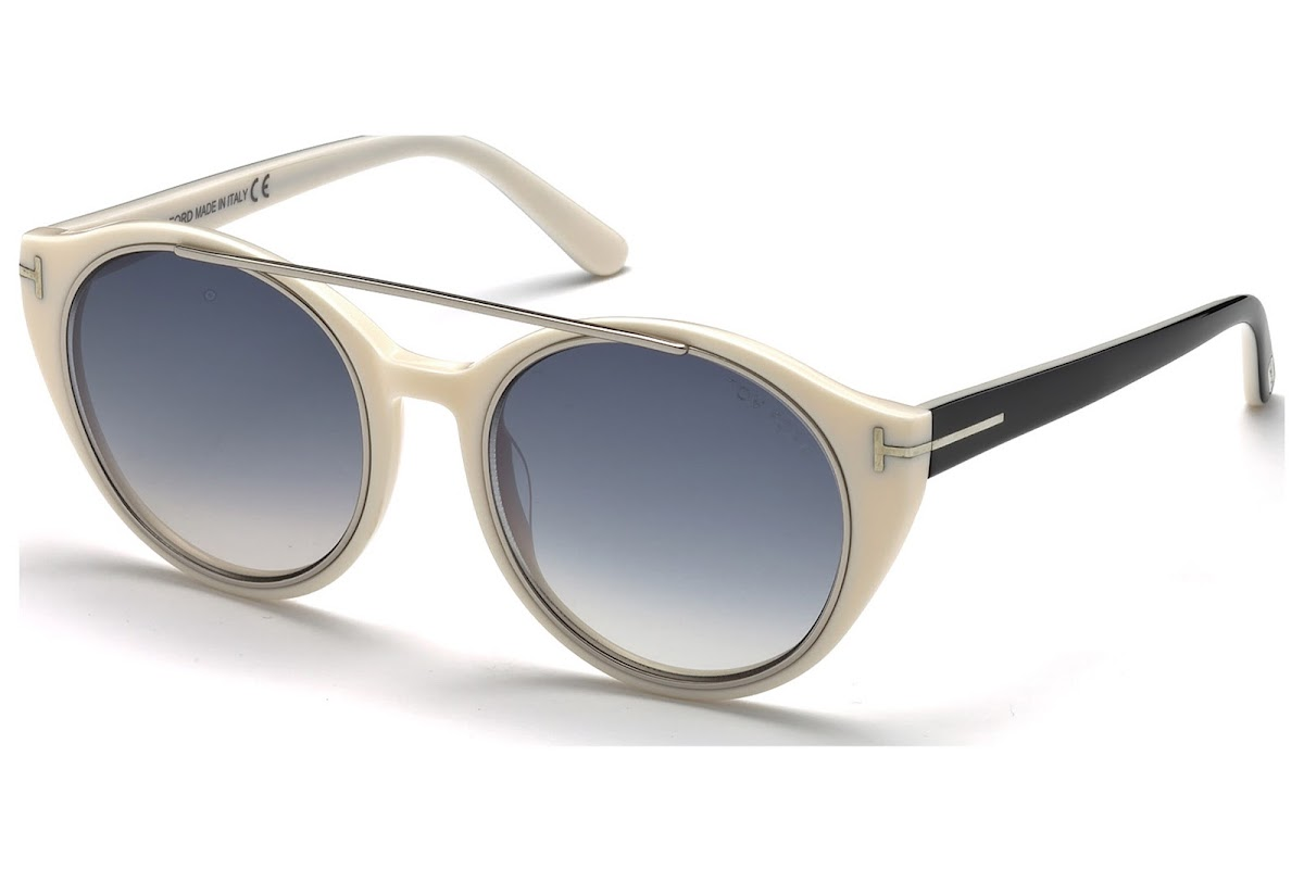 769cd98597 Polarized Sunglasses Tom Ford Joan FT0383 C52 25B (ivory   gradient smoke)