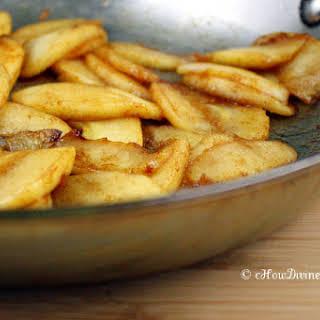 Caramelized Apple Slices.