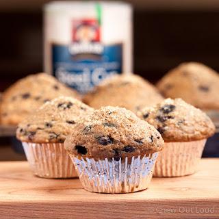 Steel Cut Oatmeal 'n Blueberry Muffins.