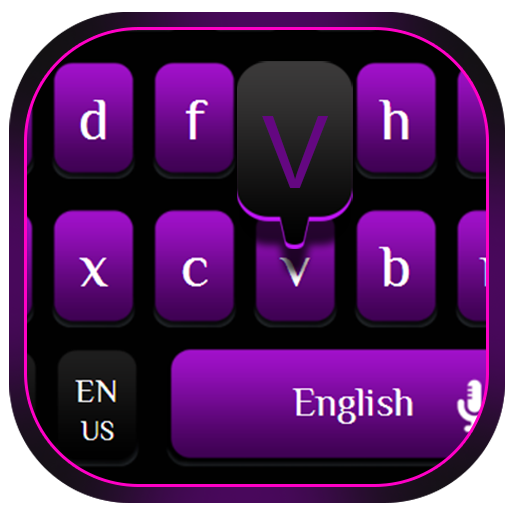 Modern Stylish Purple Black Fusion Keyboard