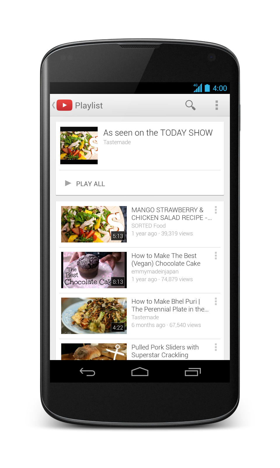 youtube playlist app android