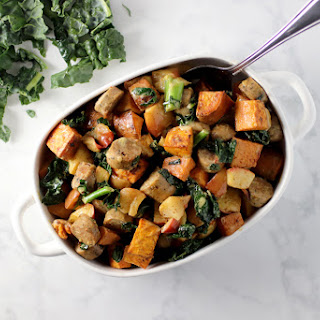 Roasted Sweet Potato, Sausage & Apple Bake Recipe