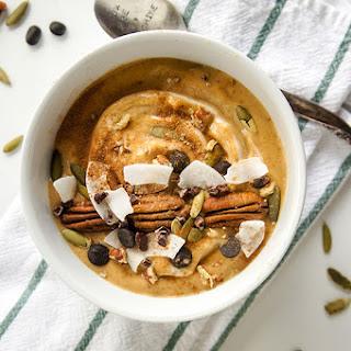 Pumpkin Spice Latte Smoothie Bowl.