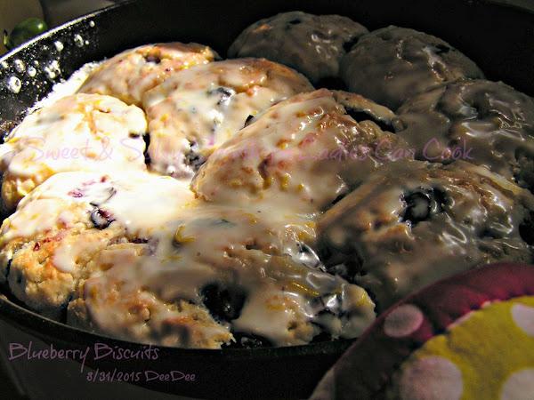 Dee Dee's Lemon Glazed Blueberry Biscuits Recipe