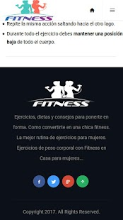 Fitness Femenino Screenshot