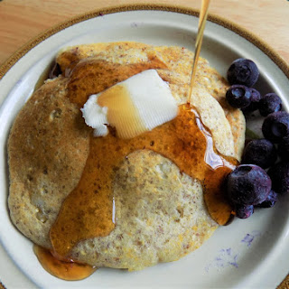 Cornmeal Kefir Blueberry Pancakes