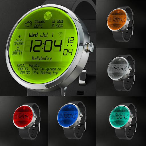 Moto360 digial face 9 colours