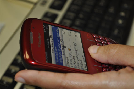 A BlackBerry mobile phone. File photo.