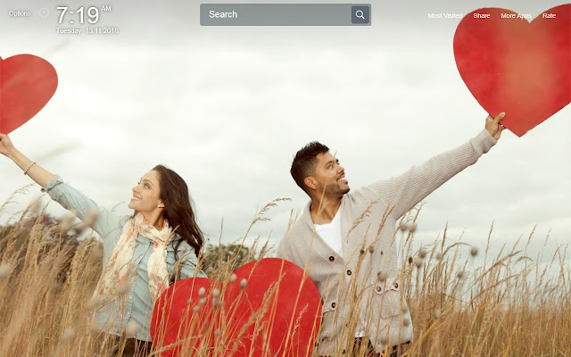 Romantic Couple Wallpapers Theme New Tab