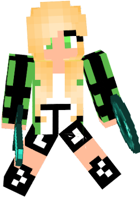 Cute Green Girl,Blonde Hair,Have Sword And Ender Pearl,PvP,Cool,Killed Boys STOP BULLYING GIRLS!!!