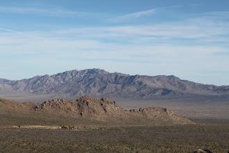 Photo: Bare mountains in the distance (Kessler peak?)