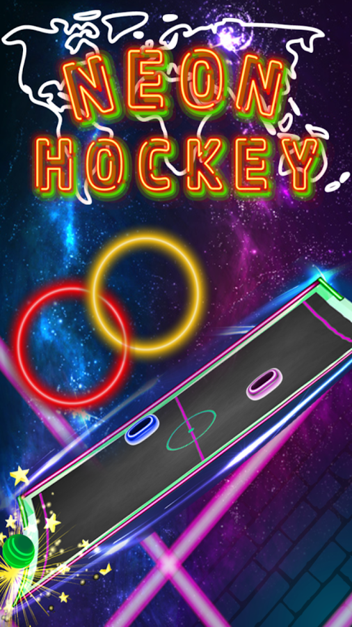 Neon Hockey- screenshot