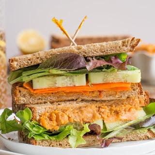Spicy Roasted Chickpea Spread Sandwich [Vegan, Gluten-Free] Recipe