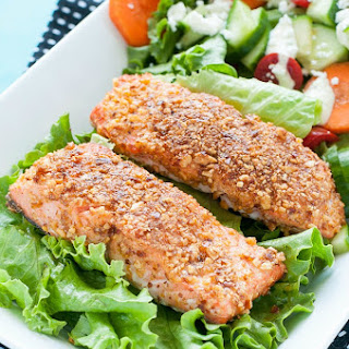 Sriracha Almond Crusted Salmon