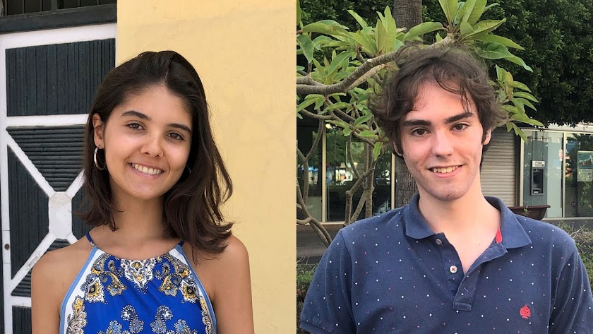 Candela Navarro y David Montesinos, segunda y tercera mejor nota de Selectividad en Almería, respectivamente..