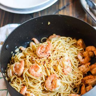 Honey Garlic Shrimp Pasta.