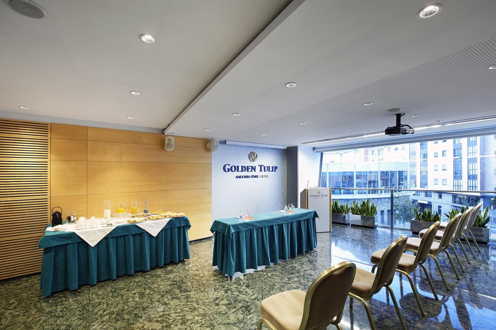 Sala para eventos y reuniones de empresas en Hotel Andorra Fenix