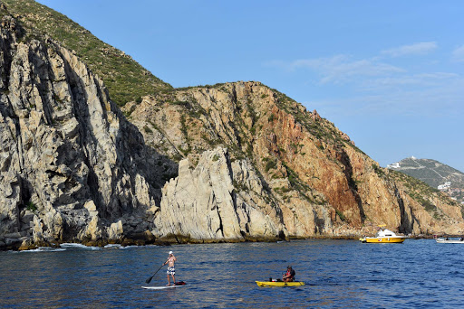 cabo-paddleboarding.jpg - Rock formations in the Sea of Cortez.