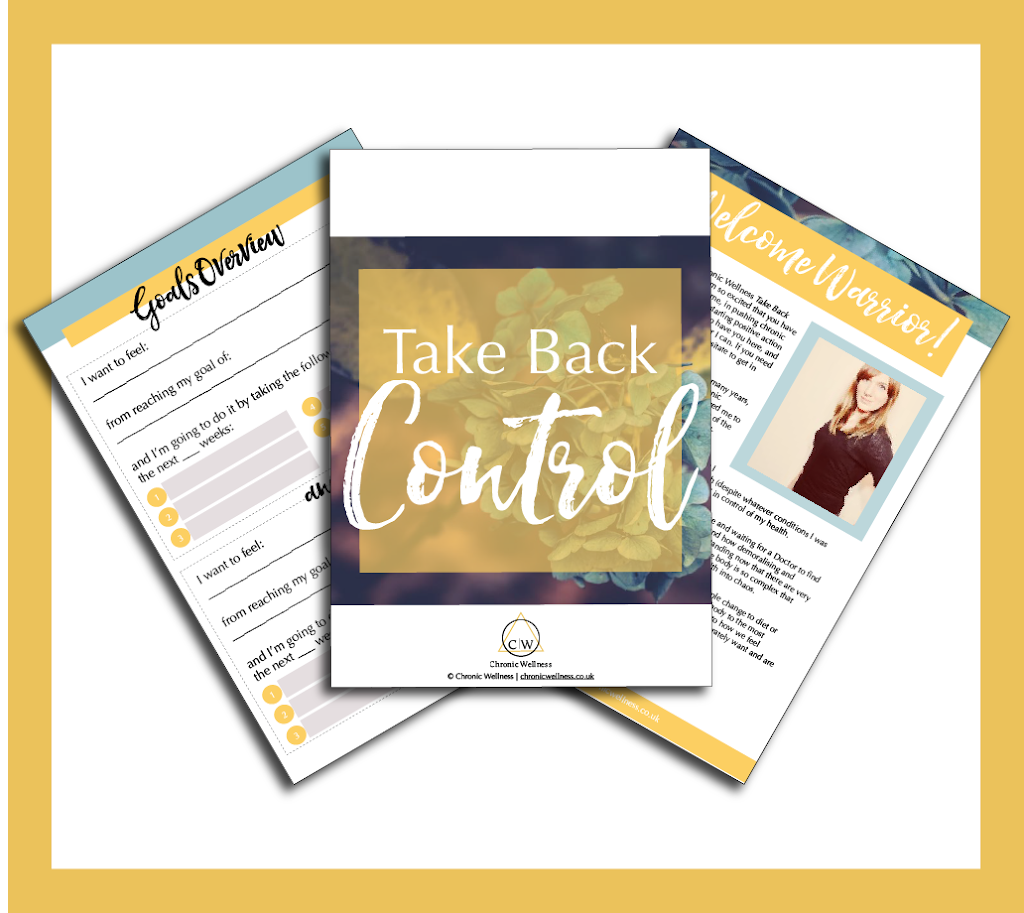 Take Back Control of Your Chronic Illness - Coaching Workbook Printable