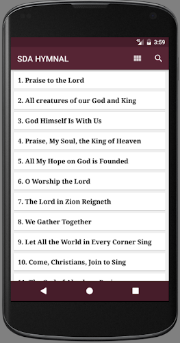 Download SDA HYMNAL APK latest version app by Mob'IT for android devices