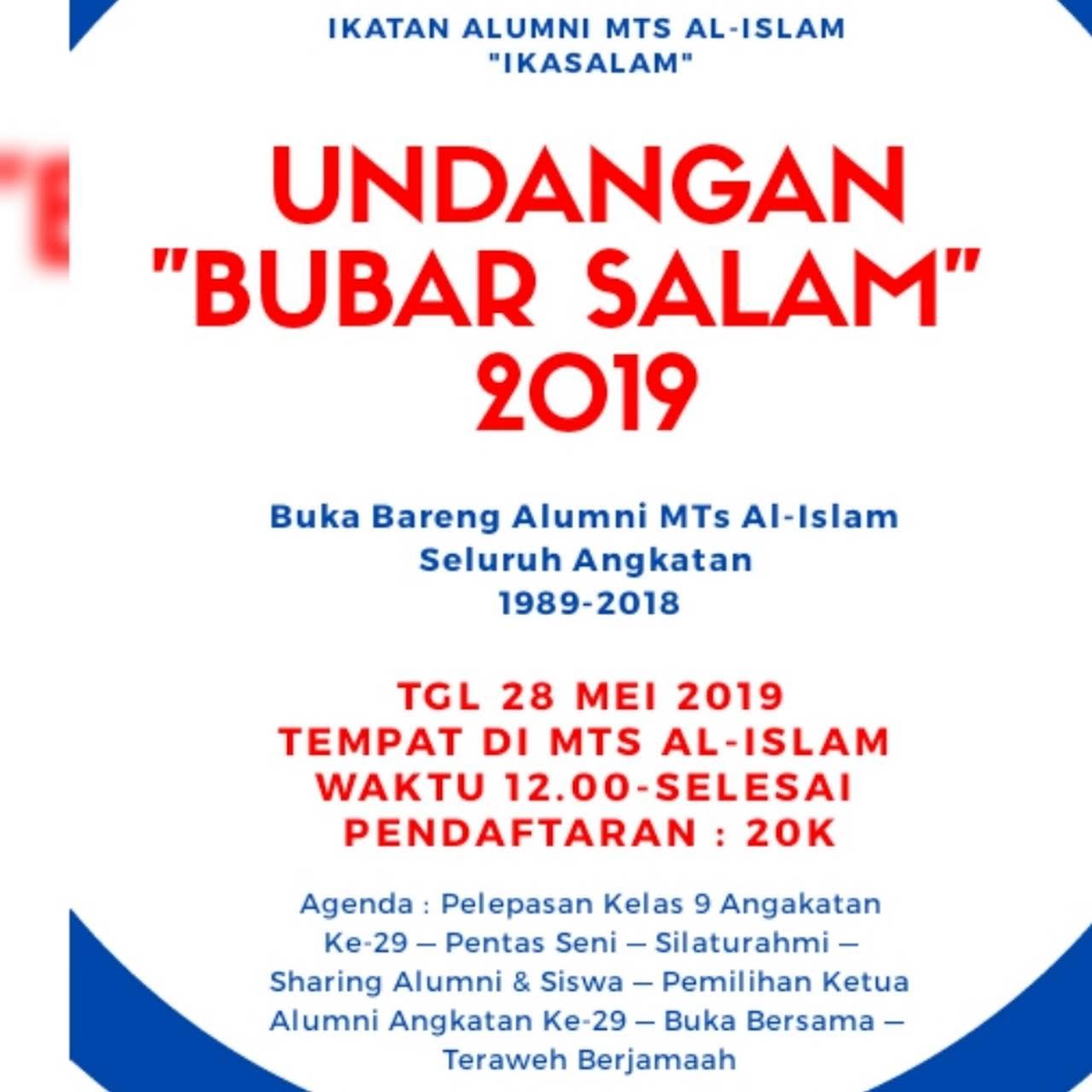 Mts Al Islam Bandung Sekolah Tingkat Tsanwiyyah Berdiri Pada Tahun
