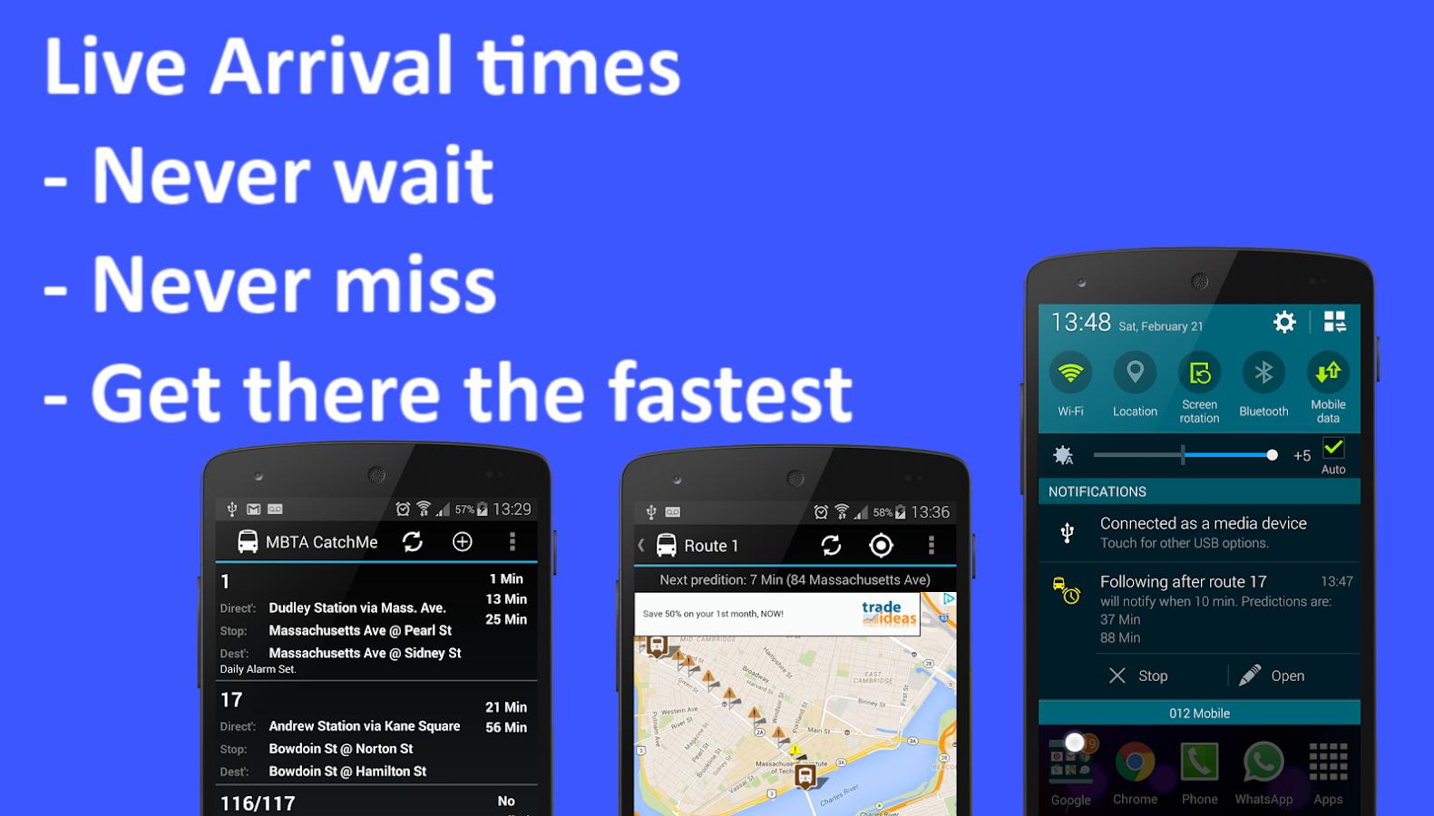 MBTA Boston: Live bus times- screenshot
