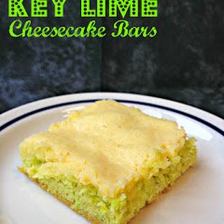 Key Lime Cheesecake Bars.