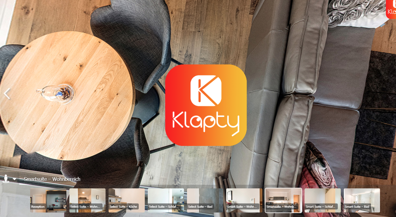 creating a virtual tour using Klapty