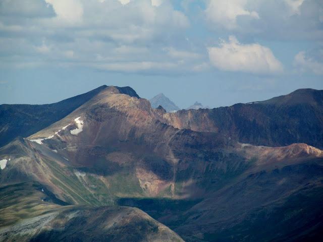 Wood Mountain with Mount Sneffels peeking up behind it
