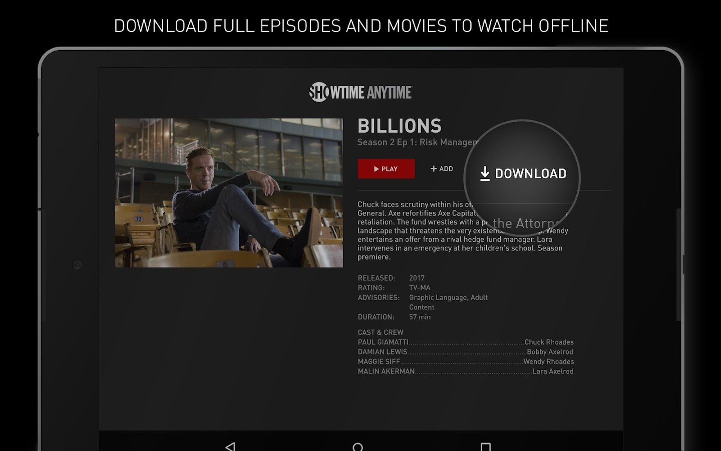Showtime Anytime- screenshot