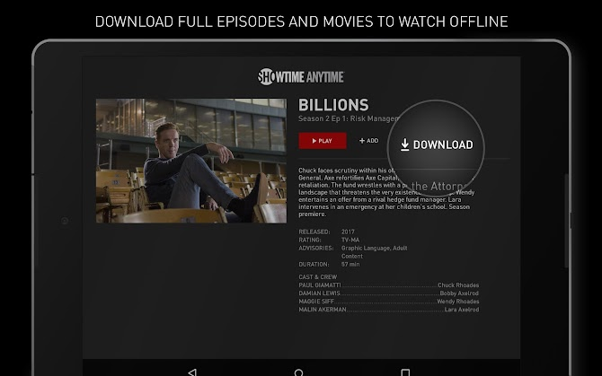 Showtime Anytime Android 8